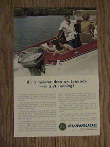 1963 Advertisement Evinrude Outboard Motor Family Fun Quiet Marine Vintage Ad