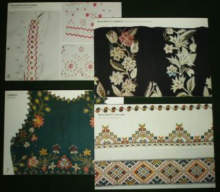 Book Polish Folk Embroidery Pattern Rzeszow Regional Textile Art Costume Poland