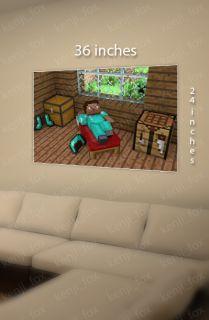 Minecraft PC Game Huge Poster Print 36x24 Steve Diamond Indoor Creeper USA New