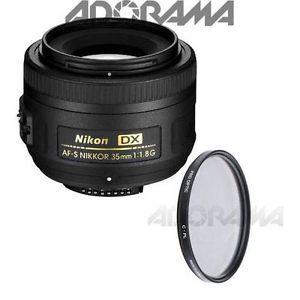 Nikon 35mm F 1 8g AF s DX Nikkor Lens with Pro 52mm Circular Polarizer Filter