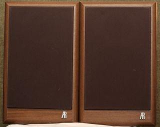 Acoustic Research Model 18B Bookshelf Speakers Monitors Audiophile Pair