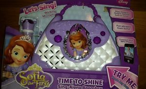 Princess Sofia The First Sophia Sing Along Boombox Microphone New