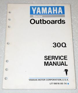 1992 Yamaha 30Q 30 HP 2 Stroke Outboard 30MH 30ER 30ml 30MS Shop Service Manual