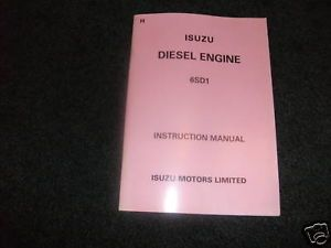 Isuzu 6SD1 Diesel Engine Instruction Manual