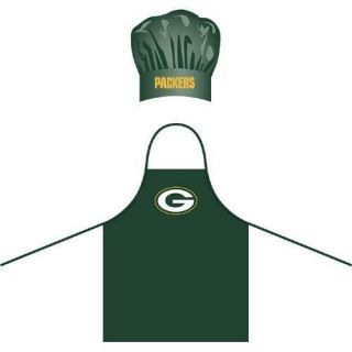 New NFL Green Bay Packers Chef Hat and Apron Set