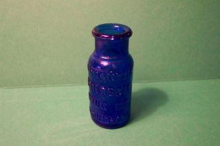Dark Cobalt Bromo Seltzer Medicine Bottle Baltimore MD Great Condition