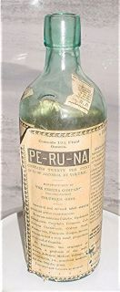 Aqua Labelled PE RU NA Bottle Columbus Ohio Label 95 w Light Damage
