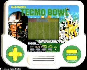1990s Tiger Electronic Handheld Tecmo Bowl Football Arcade Classic LCD Game