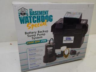 basement watchdog special bwsp battery backup sump pump system - Watchdog Sump Pump