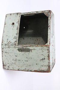 Bell Telephone System Dovetailed Wooden Green Splicers Lineman Stool Box Vtg