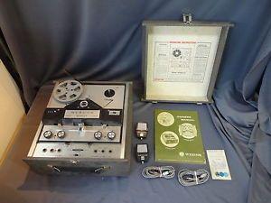VNT Webcor Regent 2456 Reel to Reel Tape Recorder Player Microphones Tube Amp