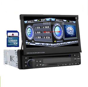 "All in 1 Single DIN GPS Nav 4GB Map 7"" Touch Screen Car DVD Player BT Radio USB"