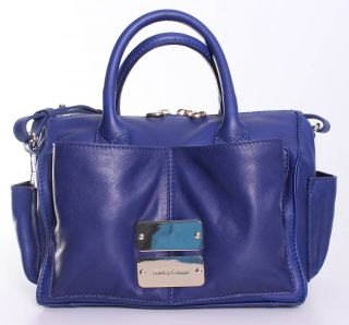 See by Chloe Nellie Medium Leather Shoulder Bag Tote Handbag in Ink Blue
