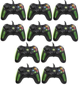 Lot of 10 as Is Xbox 360 Airflo Controllers Broken ASIS Wired Air Flo Power A