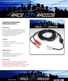 NASCAR Style Car Harness Racing Radios Electronics Communications