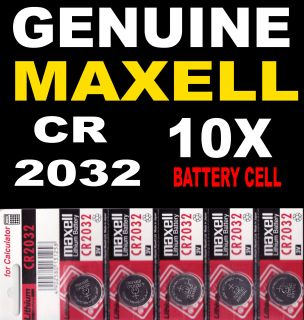 10x Genuine Maxell CR2032 2032 3V Lithium Button Coin Cells Batteries UK Post