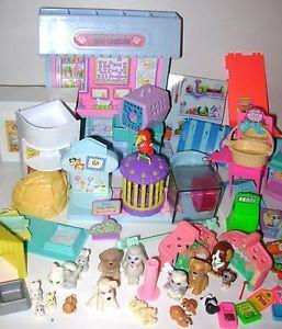 Vtg Kenner Littlest Pet Shop Large Lot LPS Care Center Bunnies Parrot Hamster