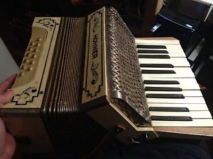 Vintage Hohner Accordion Musical Instrument Missing Strap Unique