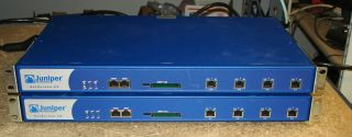 Lot of 2 Juniper Netscreen 25 NS 025 001 Advanced VPN Security Firewall