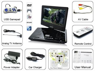 Portable Multimedia DVD Player 10 inch TV Receiver