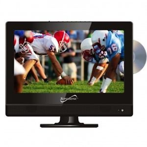 """Supersonic 13"""" inch Portable 12V Volt DC AC LED HD TV DVD Television Combo New"""