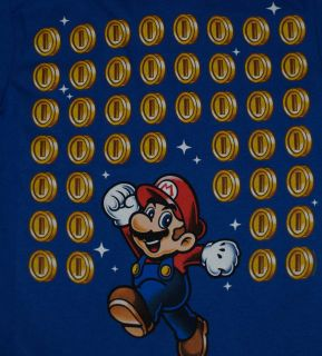 Super Mario Brothers Bros Coin Jackpot Nintendo Video Game Youth T Shirt Tee