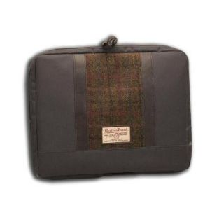 Harris Tweed Laptop Bag Green Brown Check Tartan New 19484
