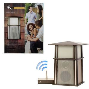 Acoustic Research Outdoor Wall Lantern Wireless Speaker AW850 Bronze $169 99