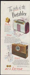 1947 RCA Victor Globe Trotter Escort Portable Radios Print Ad