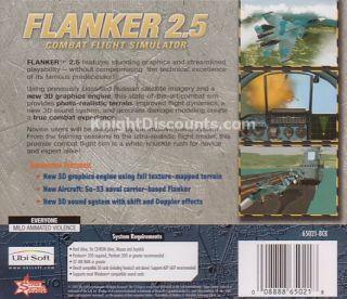 Flanker 2 5 Combat Flight Simulator PC Game New SEALED