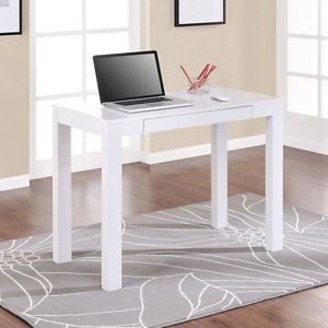 Altra Parsons White Laptop Writing Desk Computer Table Office Dorm Workstation