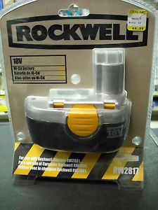 Rockwell 18V Rechargeable Ni CD Battery RW2817