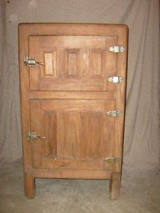 Antique Ice Box Refrigerator