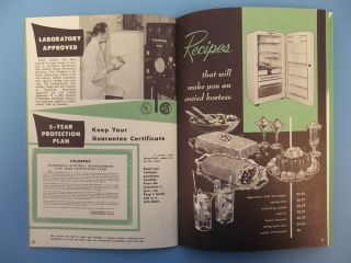 HS622 Vintage Coldspot Refrigerators  Roebuck Important Care Guide Recipes