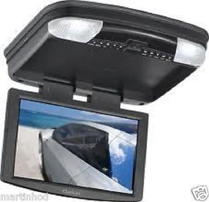 "Clarion VT1000B 10"" TV Mobile SD DVD Flip Down TV Monitor Combo Black"