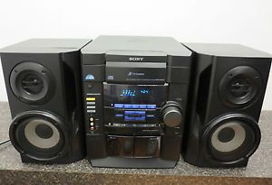 Refurbished Sony HCD RG20 Component Shelf Stereo 3 CD Cassette Receiver System