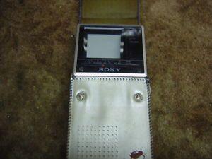 Sony Watchman Mets Edition Vintage TV Portable Television