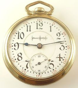 Illinois Bunn Special Railroad Grade Pocket Watch 21 Jewels Adj 6 POS