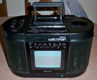 Sony FD 555 Portable Amfm Radio Cassette Player Portable Television Boombox