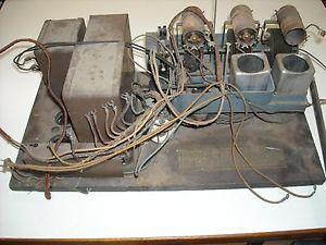 Vintage Antique RCA Radiola 46 AR 596 Tube Console Radio Chassis w Power Supply