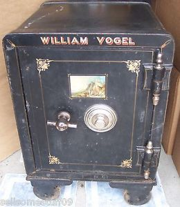 Vulcan Safe Lock Co  Roebuck Floor Safe Antique Heavy