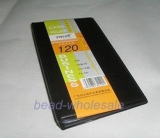 60SMALL Pockets Black Office Business Name Card 120CARDS Holder Organizer Book