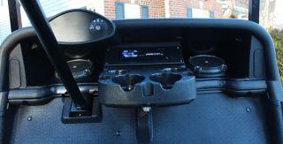 E Z Go RXV 2FIVE Golf Cart Stereo Radio Speaker Pods Enclosure Kit Console DIN