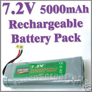 1 Pcs 7 2V 5000mAh Ni MH Rechargeable Battery Pack RC