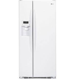 "GE Profile White 23 1 CU ft Side by Side Refrigerator PSSF3RGZWW ""Out of Box"" 084691211518"