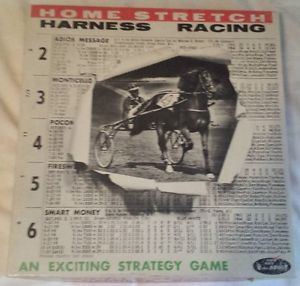 Vintage Lowe's 1965 Home Stretch Harness Racing Strategy Board Game Horse USA