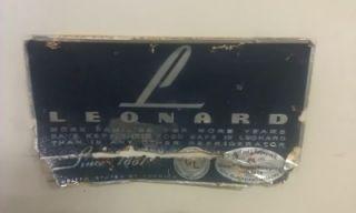 1950's Antique Leonard Refrigerator Nash Kelvinator Corp Vintage Retro Fridge