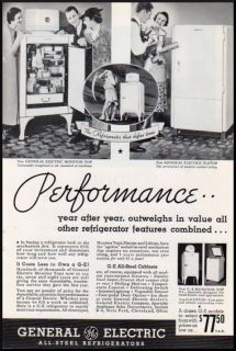 1930s Vintage Ad General Electric Steel Refrigerators