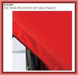 Eskimo Kitisp Ice Shelter Shanty Patch Kit Red Fabric Repair Kit