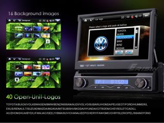 """ES788US 7"""" TFT HD Touch Screen 1 DIN Car DVD Player GPS iPod TV"""
